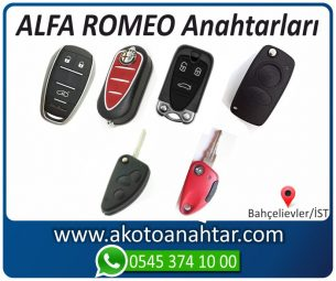 Alfa Romeo Alfaromeo Yedek Acil Kumanda Kayıp Anahtar Anahtarı Kumandası Kopyalama Çoğaltma Orjinal Orj Keys Original Smart