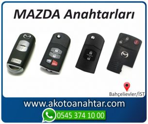 Mazda Yedek Acil Kumanda Kayıp Anahtar Anahtarı Kumandası Kopyalama Çoğaltma Orjinal Orj Keys Original Smart