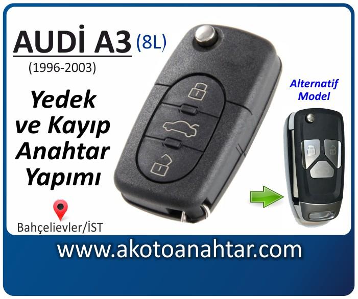 audi a3 8l anahtari anahtar key yedek yaptirma fiyati kopyalama cogaltma kayip 1998 1999 2000 2001 2002 2003 model model - Audi A3 Anahtarı | Yedek ve Kayıp Anahtar Yapımı