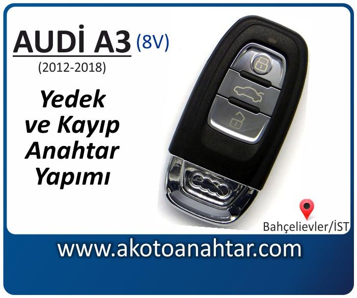 audi a3 8v anahtari anahtar key yedek yaptirma fiyati kopyalama cogaltma kayip 2012 2013 2014 2015 2016 2017 2018 model model - Yeni Audi A3 Anahtarı | Yedek ve Kayıp Anahtar Yapımı