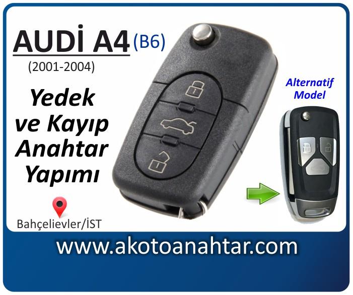 audi a4 b6 anahtari anahtar key yedek yaptirma fiyati kopyalama cogaltma kayip 2001 2002 2003 2004 model model - Audi A4 Anahtarı | Yedek ve Kayıp Anahtar Yapımı