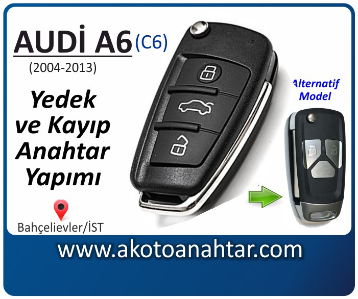 audi a6 c6 anahtari anahtar key yedek yaptirma fiyati kopyalama cogaltma kayip 2004 2005 2006 2007 2008 2009 2010 2011 2012 2013 model model - Audi A6 (c6) Anahtarı | Yedek ve Kayıp Anahtar Yapımı