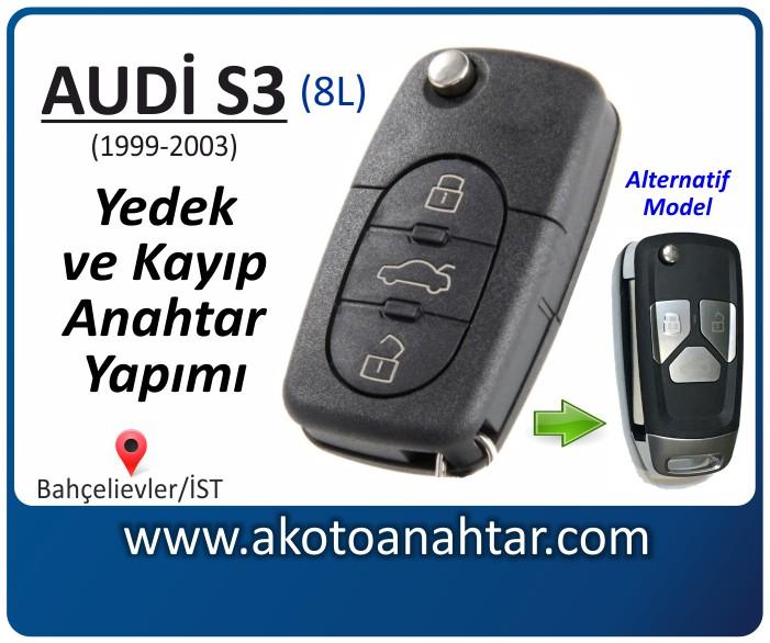 audi s3 8l anahtari anahtar key yedek yaptirma fiyati kopyalama cogaltma kayip 1999 2000 2001 2002 2003 model model - Audi S3 Anahtarı | Yedek ve Kayıp Anahtar Yapımı