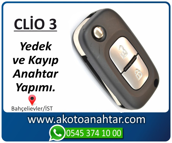 clio 3 anahtari anahtar yedek kayıp 2005 2006 2007 2008 2009 2010 2011 2012 - Renault Clio 3 Anahtarı | Yedek ve Kayıp Anahtar Yapımı