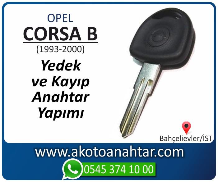 opel corsa b anahtari anahtar key yedek yaptirma fiyati kopyalama cogaltma kayip 1998 1999 2000 model - Opel Corsa B Anahtarı | Yedek ve Kayıp Anahtar Yapımı