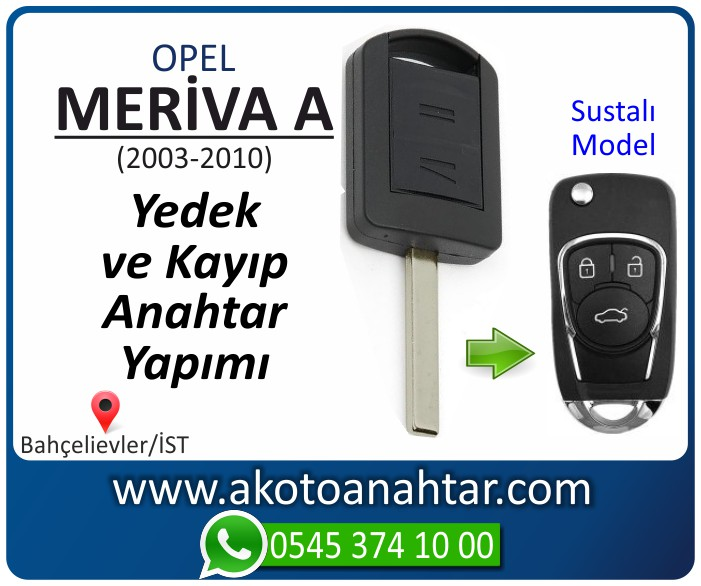 opel meriva a anahtari anahtar key yedek yaptirma fiyati kopyalama cogaltma kayip 2003 2004 2005 2006 2007 2008 2009 2010 model - Opel Meriva A Anahtarı | Yedek ve Kayıp Anahtar Yapımı