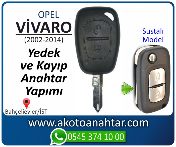 opel vivaro anahtari anahtar key yedek yaptirma fiyati kopyalama cogaltma kayip 2006 2007 2008 2009 2010 2011 2012 2013 2014 model - Opel Vivaro Anahtarı | Yedek ve Kayıp Anahtar Yapımı