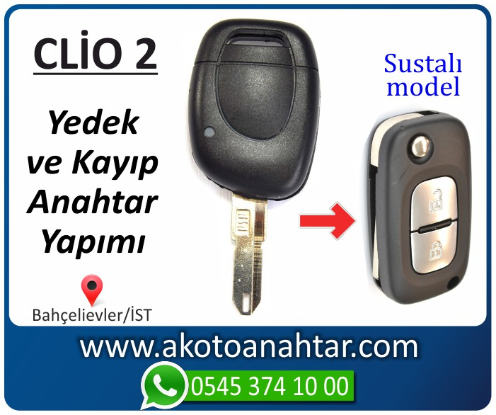 renault clio 2 anahtari anahtar key yedek kayip 2001 2002 2003 2004 2005 2006 2007 2008 - Renault Clio 2 Anahtarı | Yedek ve Kayıp Anahtar Yapımı