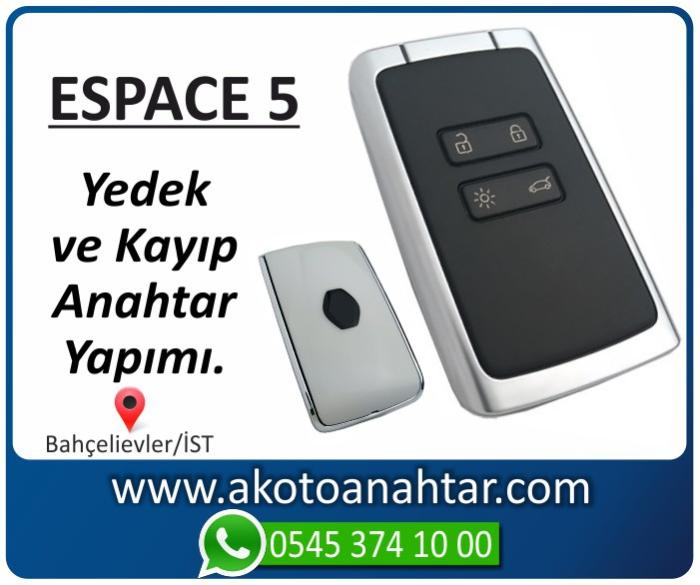 renault eespace 5 kart anahtari key yedek kayip 2015 2016 2017 - Renault Espace 5 Anahtarı | Yedek ve Kayıp Anahtar Yapımı