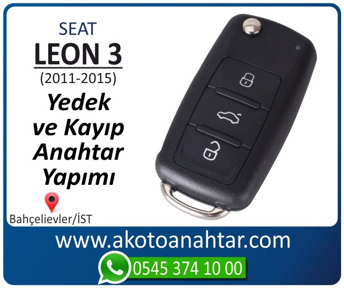 seat leon 3 anahtari anahtar key yedek yaptirma fiyati kopyalama cogaltma kayip 2011 2012 2013 2014 2015 model - Seat Leon 3 Anahtarı | Yedek ve Kayıp Anahtar Yapımı
