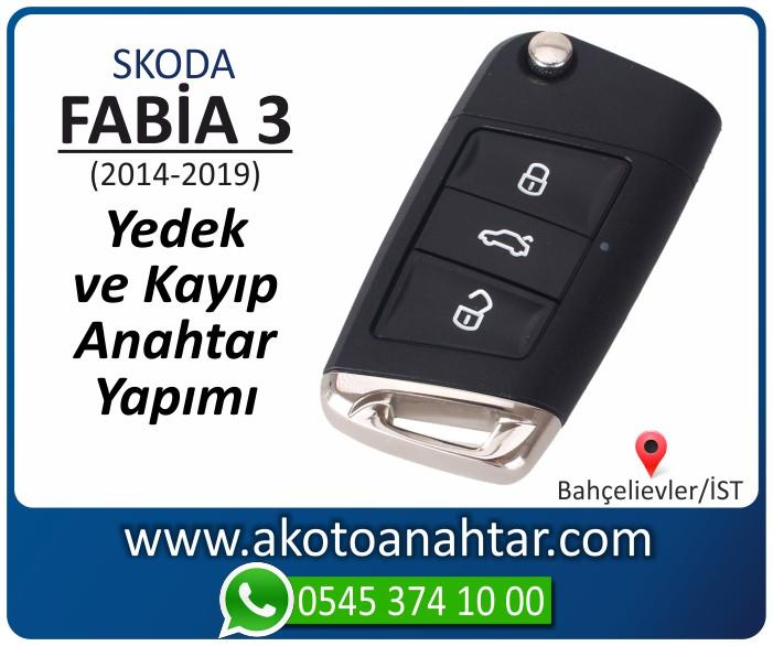 skoda fabia 3 anahtari anahtar key yedek yaptirma fiyati kopyalama cogaltma kayip 2014 2015 2016 2017 2018 2019 model - Skoda Fabia 3 Anahtarı | Yedek ve Kayıp Anahtar Yapımı