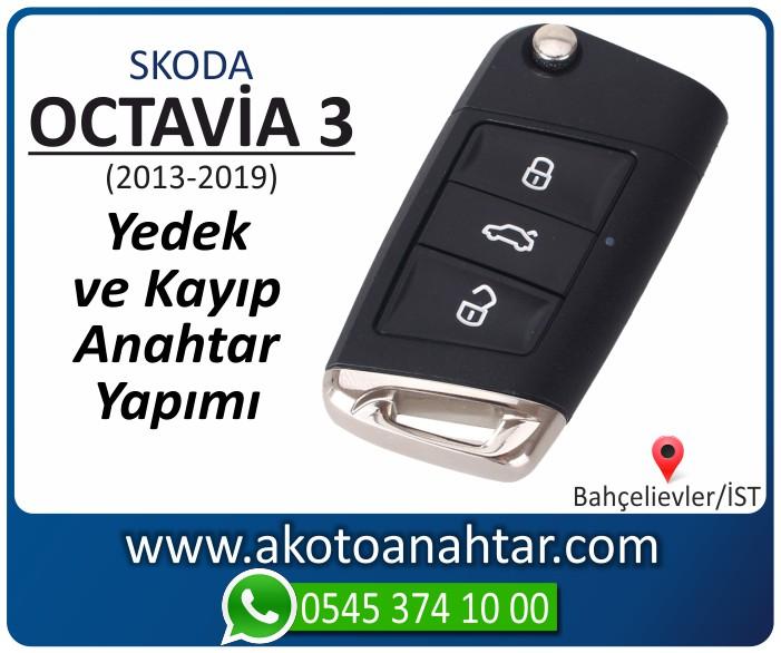 skoda octavia 3 anahtari anahtar key yedek yaptirma fiyati kopyalama cogaltma kayip 2013 2014 2015 2016 2017 2018 2019 model - Skoda Octavia 3 Anahtarı | Yedek ve Kayıp Anahtar Yapımı