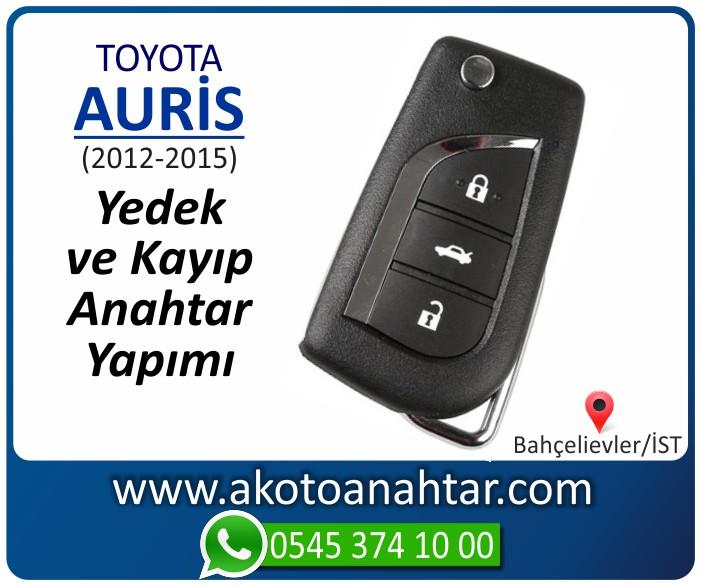 toyota auris anahtari anahtar key yedek yaptirma fiyati kopyalama cogaltma kayip 2012 2013 2014 2015 model - Toyota Auris Anahtarı | Yedek ve Kayıp Anahtar Yapımı