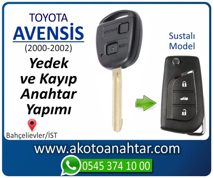 toyota avensis anahtari anahtar key yedek yaptirma fiyati kopyalama cogaltma kayip 2000 2001 2002 2003 model - Toyota Avensis Anahtarı | Yedek ve Kayıp Anahtar Yapımı