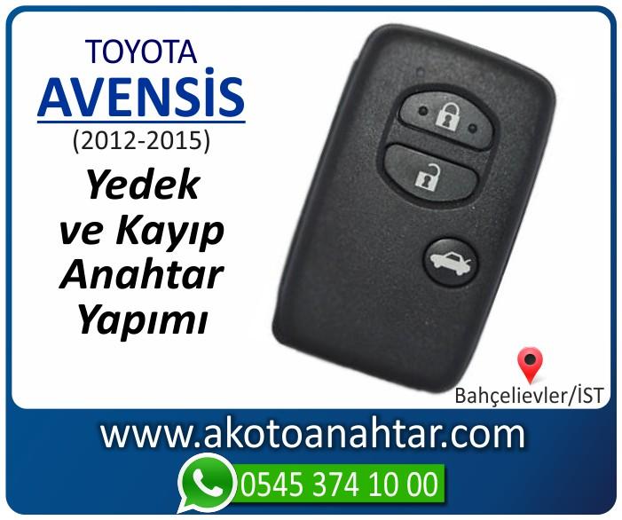 toyota avensis anahtari anahtar key yedek yaptirma fiyati kopyalama cogaltma kayip 2012 2013 2014 2015 model - Toyota Avensis Keyles Anahtarı | Yedek ve Kayıp Anahtar Yapımı