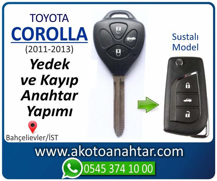 toyota corolla anahtari anahtar key yedek yaptirma fiyati kopyalama cogaltma kayip 2011 2012 2013 model - Toyota Corolla Anahtarı | Yedek ve Kayıp Anahtar Yapımı