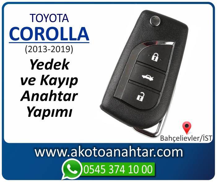 toyota corolla anahtari anahtar key yedek yaptirma fiyati kopyalama cogaltma kayip 2013 2014 2015 2016 2017 2018 2019 model - Toyota Yeni Corolla  Anahtar | Yedek ve Kayıp Anahtar Yapımı