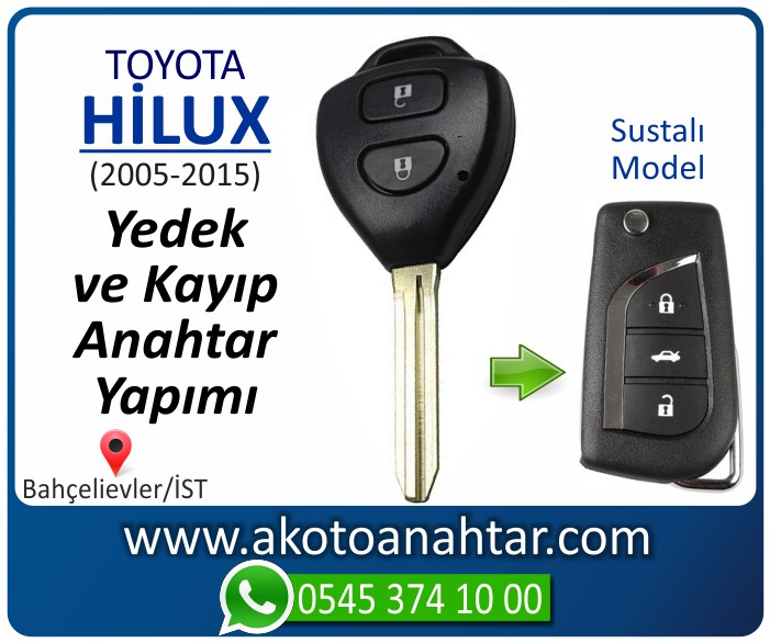 toyota hilux anahtari anahtar key yedek yaptirma fiyati kopyalama cogaltma kayip 2006 2007 2008 2009 2010 2011 2012 2013 2014 2015 model - Toyota Hilux Anahtarı | Yedek ve Kayıp Anahtar Yapımı