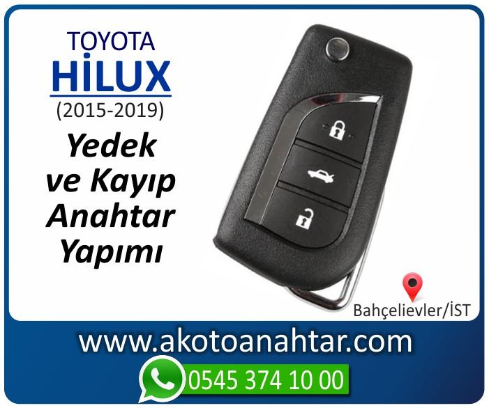 toyota hilux anahtari anahtar key yedek yaptirma fiyati kopyalama cogaltma kayip 2015 2016 2017 2018 2019 model - Toyota Hilux Sustalı Anahtar | Yedek ve Kayıp Anahtar Yapımı