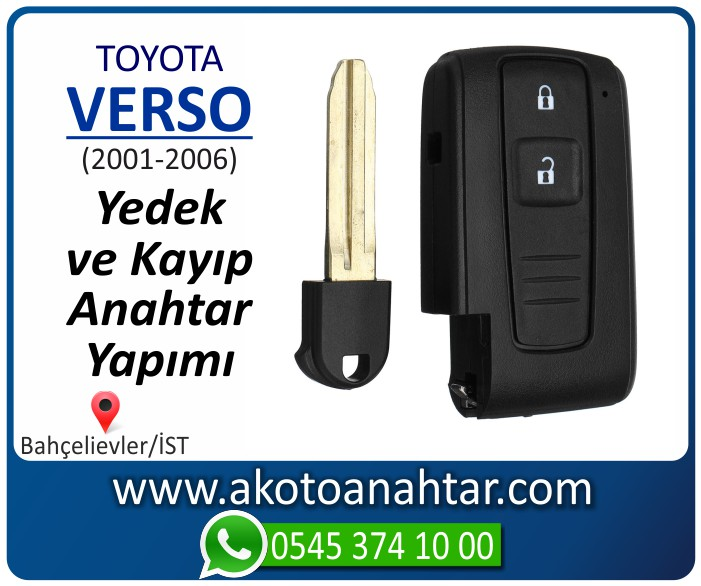 toyota verso anahtari anahtar key yedek yaptirma fiyati kopyalama cogaltma kayip 2001 2002 2003 2004 2005 2006 model - Toyota Verso Anahtarı | Yedek ve Kayıp Anahtar Yapımı