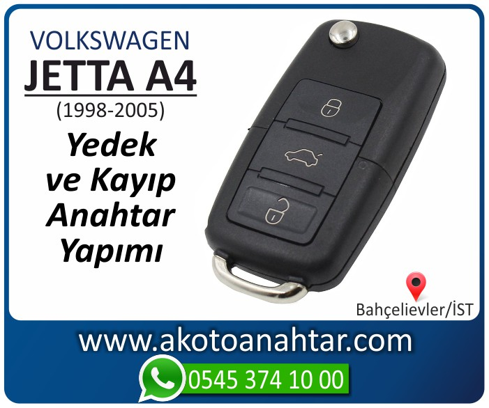 volkswagen vw jetta a4 anahtari anahtar key yedek yaptirma fiyati kopyalama cogaltma kayip 1998 1999 2000 2001 2002 2003 2004 2005 model - VW Volkswagen Jetta A4 Anahtarı | Yedek ve Kayıp Anahtar Yapımı