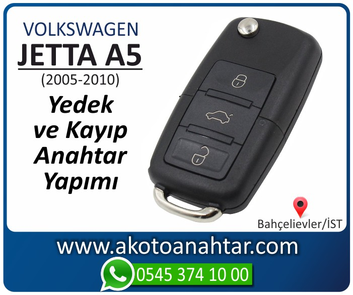 volkswagen vw jetta a5 anahtari anahtar key yedek yaptirma fiyati kopyalama cogaltma kayip 2005 2006 2007 2008 2009 2010 model - VW Volkswagen Jetta A5 Anahtarı | Yedek ve Kayıp Anahtar Yapımı
