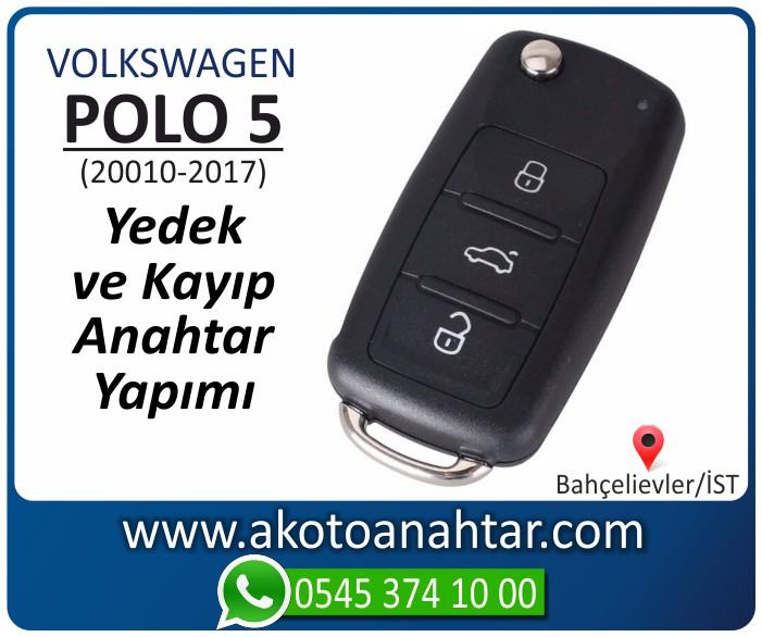 volkswagen vw polo 5 anahtari anahtar key yedek yaptirma fiyati kopyalama cogaltma kayip 2009 2010 2011 2012 2013 2014 2015 2016 2017 model - VW Volkswagen Polo 5 Anahtarı | Yedek ve Kayıp Anahtar Yapımı