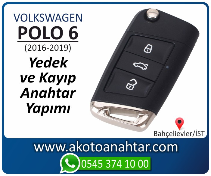 volkswagen vw polo 6 anahtari anahtar key yedek yaptirma fiyati kopyalama cogaltma kayip 2016 2017 2018 2019 model - VW Volkswagen Polo 6 Anahtarı | Yedek ve Kayıp Anahtar Yapımı