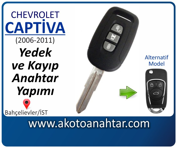 chevrolet captiva anahtari anahtar key yedek yaptirma fiyati kopyalama cogaltma kayip 2006 2007 2008 2009 2010 2011 model - Chevrolet Captiva Anahtarı | Yedek ve Kayıp Anahtar Yapımı