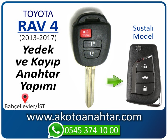 toyota rav 4 anahtari anahtar key yedek yaptirma fiyati kopyalama cogaltma kayip 2013 2014 2015 2016 2017 model - Toyota Rav 4 Anahtarı   Yedek ve Kayıp Anahtar Yapımı