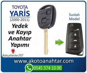 Toyota Yaris Araba Oto Otomobil Car Sustalı Yedek Kayıp Kumanda Kumandalı İmmobilizer Anahtar Anahtarı Çilingir Anahtarcı Acil Kopyalama Kodlama Locksmith Key Bahçelievler İstanbul Kayboldu Dönmüyor Okumuyor Orjinal Kontak Tamir Tamiri Çip