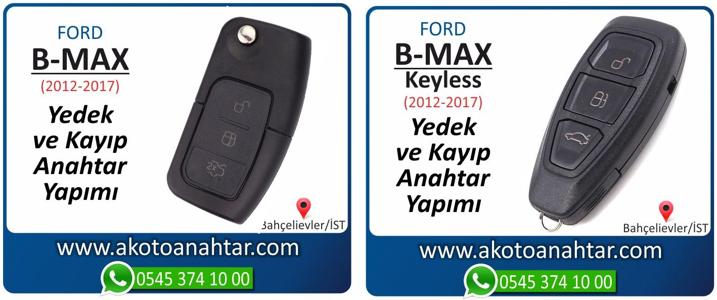 B max bmax anahtari - Ford B-Max Smart Keyless Anahtarı | Yedek ve Kayıp Anahtar Yapımı