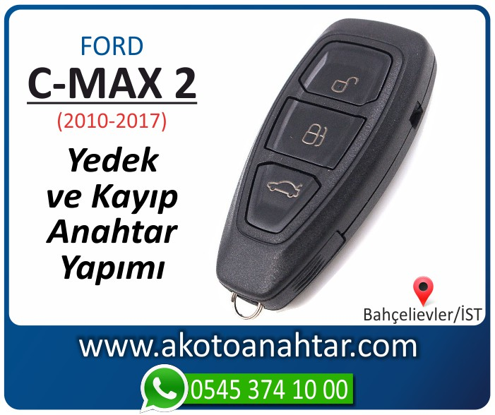 Ford C Max 2 keyless anahtari anahtar key yedek yaptirma fiyati kopyalama cogaltma kayip 2010 2011 2012 2013 2014 2015 2016 2017 model - Ford C-Max 2 Smart Keyless Anahtarı | Yedek ve Kayıp Anahtar Yapımı