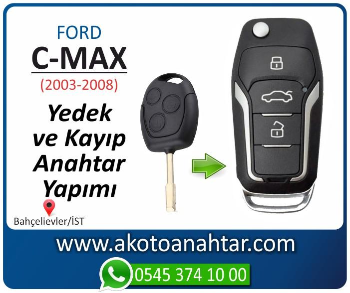 Ford C Max anahtari anahtar key yedek yaptirma fiyati kopyalama cogaltma kayip 2003 2004 2005 2006 2007 2008 model - Ford C-Max Anahtarı | Yedek ve Kayıp Anahtar Yapımı