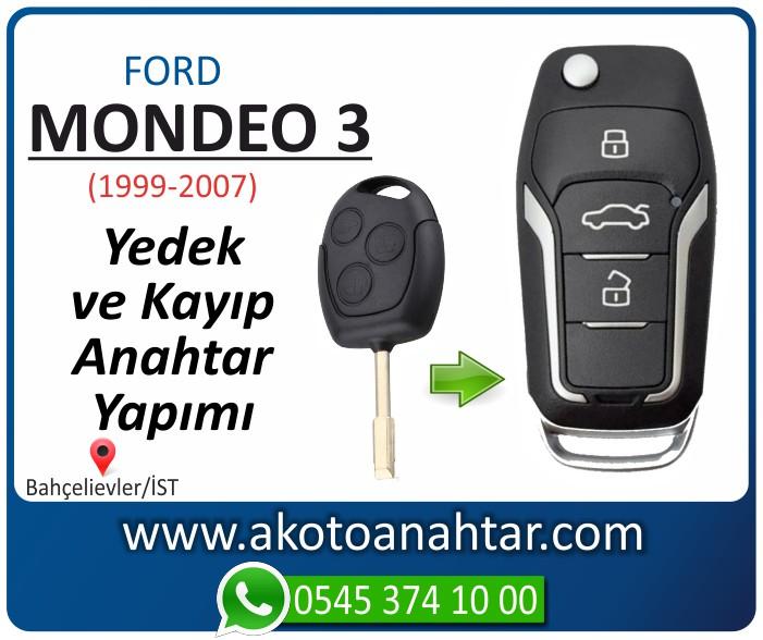 Ford Mondeo 3 anahtari anahtar key yedek yaptirma fiyati kopyalama cogaltma kayip 1999 2000 2001 2002 2003 2004 2005 2006 2007 model - Ford Mondeo 3 Anahtarı | Yedek ve Kayıp Anahtar Yapımı