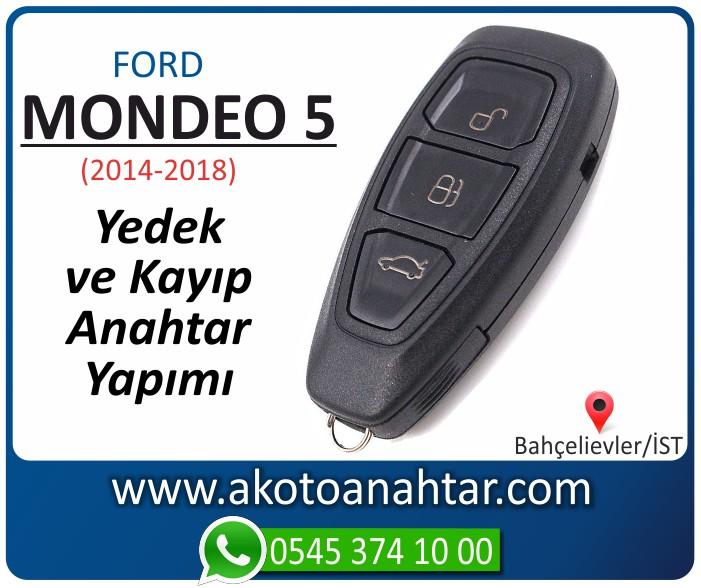Ford Mondeo 5 anahtari keyless anahtar key yedek yaptirma fiyati kopyalama cogaltma kayip 2014 2015 2016 2017 2018 model - Ford Mondeo 5 Smart Keyless Anahtarı   Yedek ve Kayıp Anahtar Yapımı