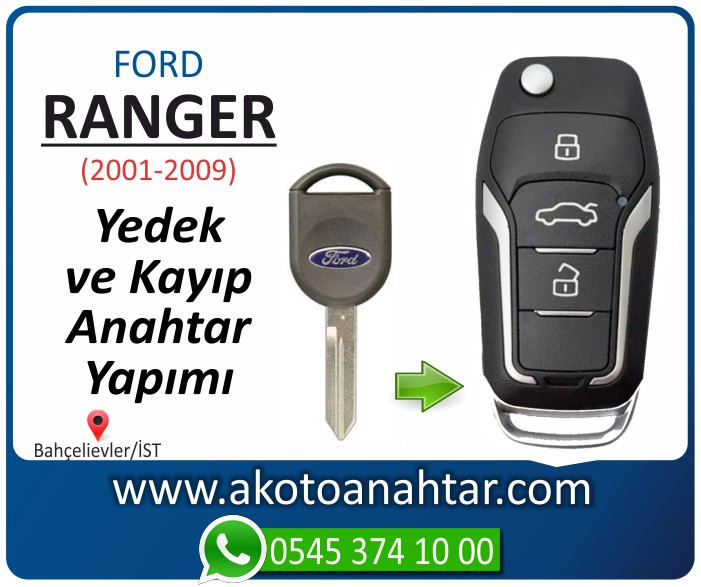 Ford Ranger anahtari anahtar key yedek yaptirma fiyati kopyalama cogaltma kayip 2001 2002 2003 2004 2005 2006 2007 2008 2009 model - Ford Ranger Anahtarı | Yedek ve Kayıp Anahtar Yapımı