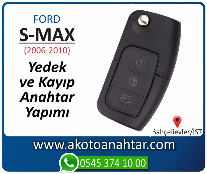 Ford S max smax anahtari anahtar key yedek yaptirma fiyati kopyalama cogaltma kayip 2006 2007 2008 2009 2010 model - Ford S-Max Sustalı Anahtarı | Yedek ve Kayıp Anahtar Yapımı