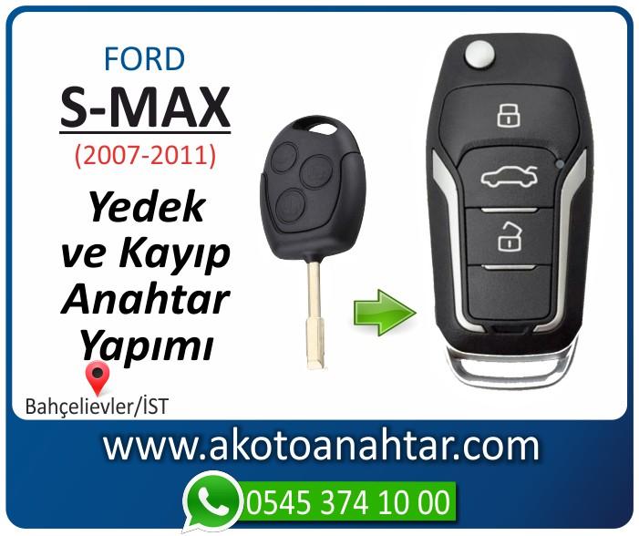 Ford S max smax anahtari anahtar key yedek yaptirma fiyati kopyalama cogaltma kayip 2007 2008 2009 2010 2011 model - Ford S-Max Anahtarı | Yedek ve Kayıp Anahtar Yapımı