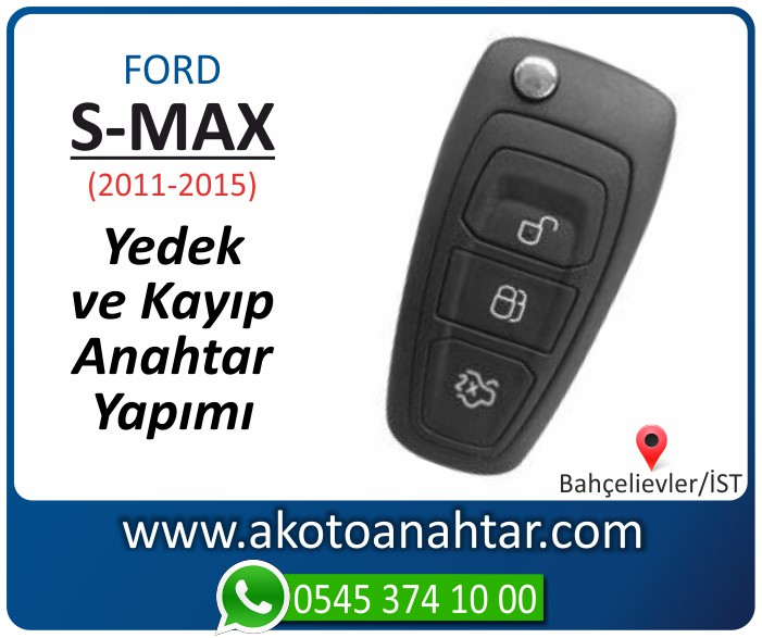 Ford S max smax anahtari anahtar key yedek yaptirma fiyati kopyalama cogaltma kayip 2011 2012 2013 2014 2015 model - Ford Yeni S-Max Anahtarı | Yedek ve Kayıp Anahtar Yapımı