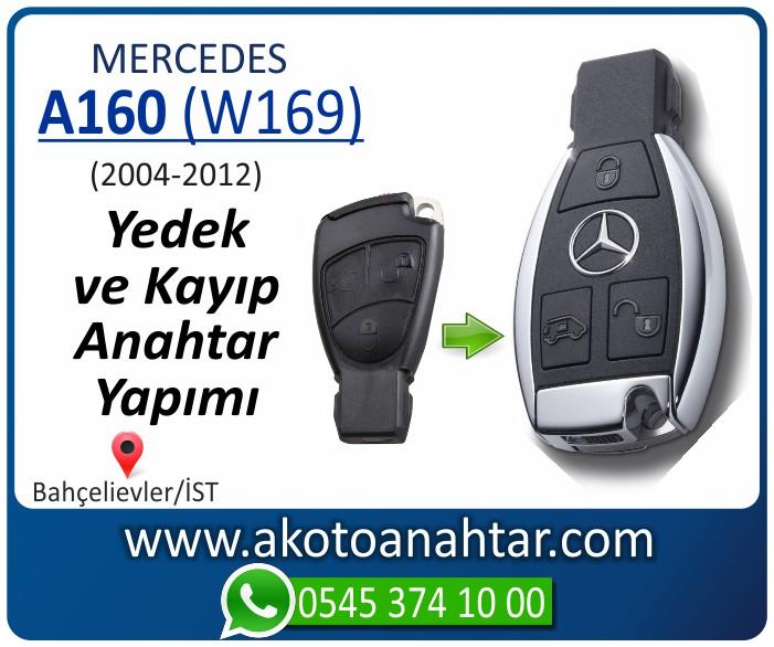 Mercedes A160 W169 Anahtarı 2005 2006 2007 2008 2009 2010 2011 2012 - Mercedes A160 (W169) Anahtarı | Yedek ve Kayıp Anahtar Yapımı