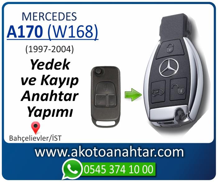 Mercedes A170 W168 Anahtarı 19981999 2000 2001 2002 2003 2004 - Mercedes A-Serisi A170 (W168) Anahtarı | Yedek ve Kayıp Anahtar Yapımı