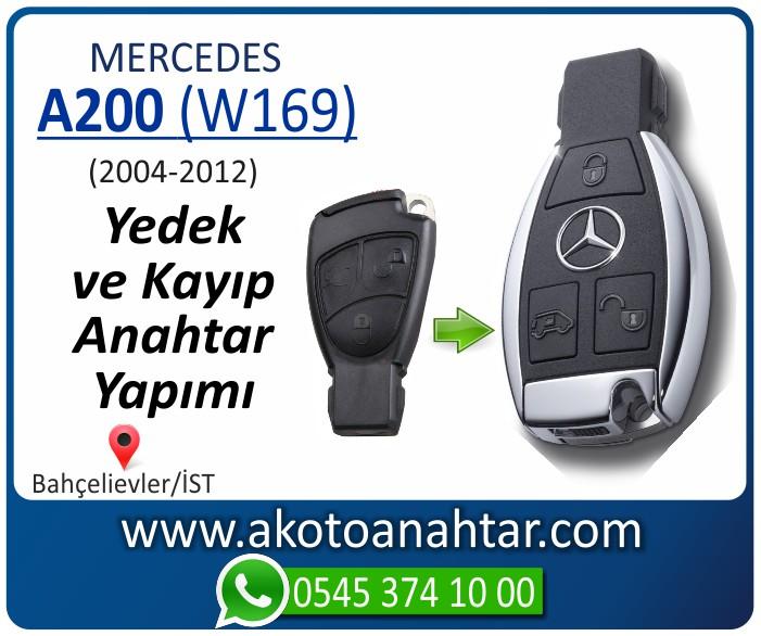 Mercedes A200 W169 Anahtarı 2005 2006 2007 2008 2009 2010 2011 2012 - Mercedes A200 (W169) Anahtarı | Yedek ve Kayıp Anahtar Yapımı