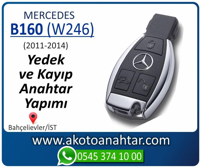 Mercedes B160 W246 Anahtari 2011 2012 2013 2014 - Mercedes B160 (W246) Anahtarı | Yedek ve Kayıp Anahtar Yapımı