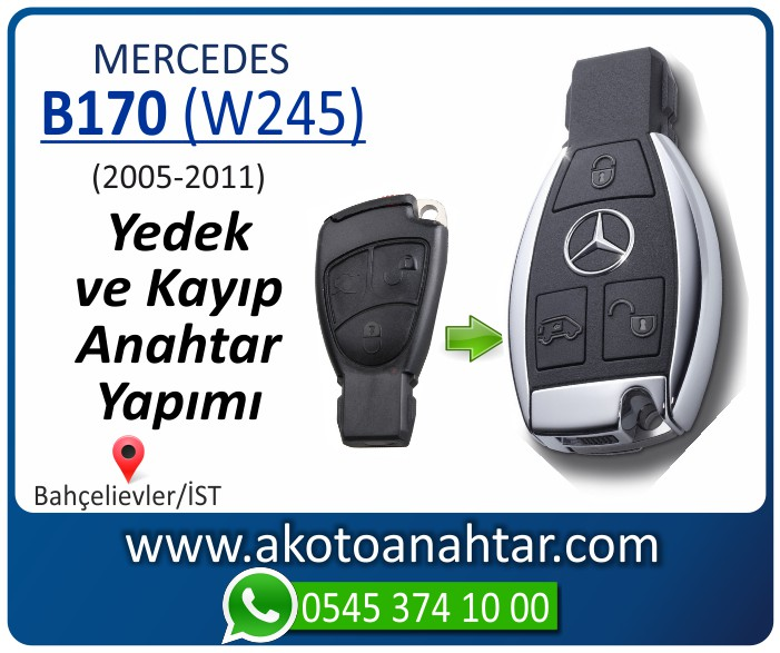 Mercedes B170 W245 Anahtari 2006 2007 2008 2009 2010 2011 - Mercedes B170 (W245) Anahtarı | Yedek ve Kayıp Anahtar Yapımı
