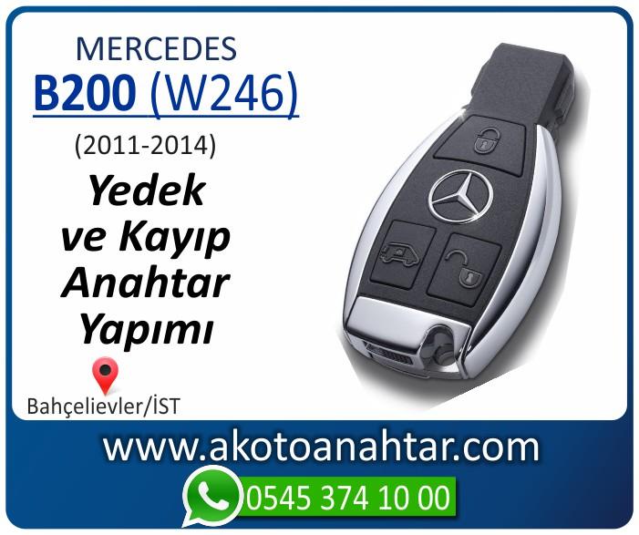 Mercedes B200 W246 Anahtari 2011 2012 2013 2014 - Mercedes B200 (W246) Anahtarı | Yedek ve Kayıp Anahtar Yapımı