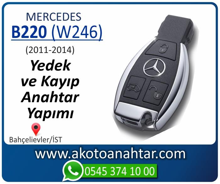 Mercedes B220 W246 Anahtari 2011 2012 2013 2014 - Mercedes B220 (W246) Anahtarı | Yedek ve Kayıp Anahtar Yapımı