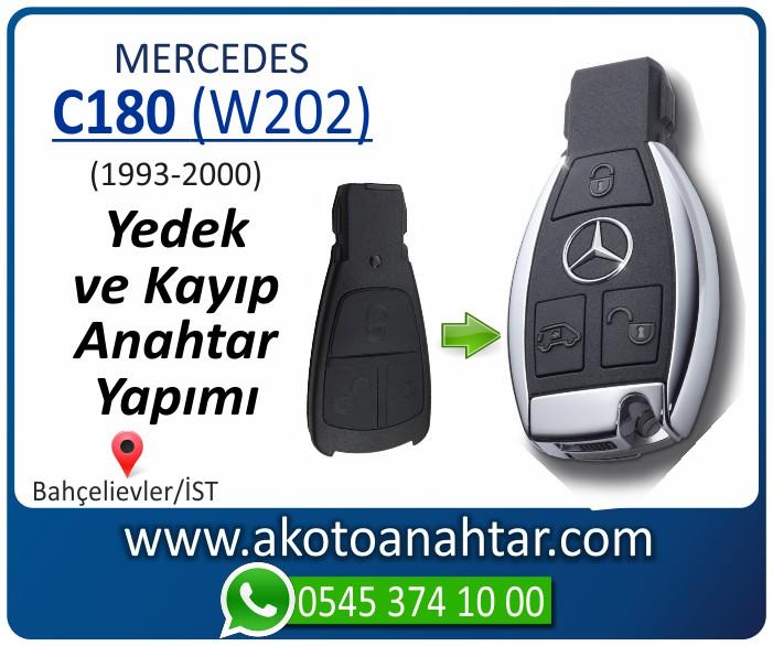 Mercedes C180 W202 Anahtari 1998 1999 2000 - Mercedes C180 (W202) Anahtarı | Yedek ve Kayıp Anahtar Yapımı