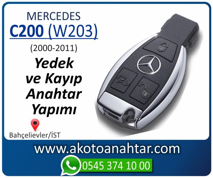 Mercedes C200 W203 Anahtari 2000 2001 2002 2003 2004 2005 2006 2007 2008 2009 2010 2011 - Mercedes C200 (W203) Anahtarı | Yedek ve Kayıp Anahtar Yapımı