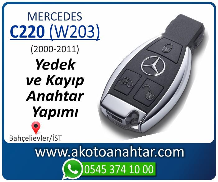 Mercedes C220 W203 Anahtari 2000 2001 2002 2003 2004 2005 2006 2007 2008 2009 2010 2011 - Mercedes C220 (W203) Anahtarı | Yedek ve Kayıp Anahtar Yapımı